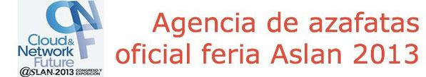 A10 agencia de azafatas oficial de la feria Aslan 2013