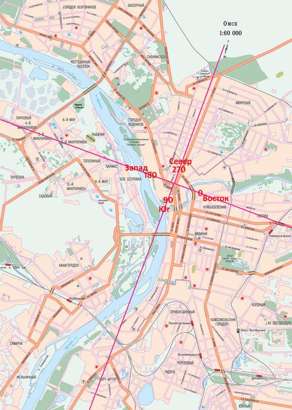 Карта города Омска
