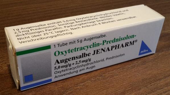 Oxytetracyclin-Prednisolon Augensalbe