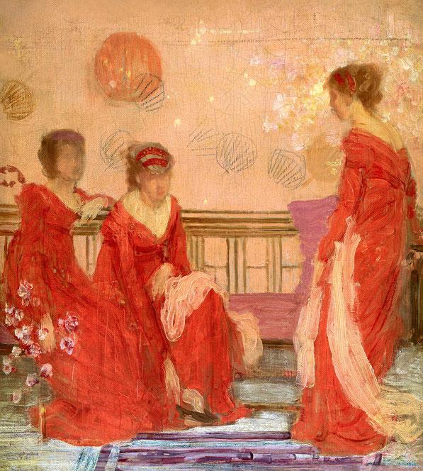 Гармония телесного цвета и красный