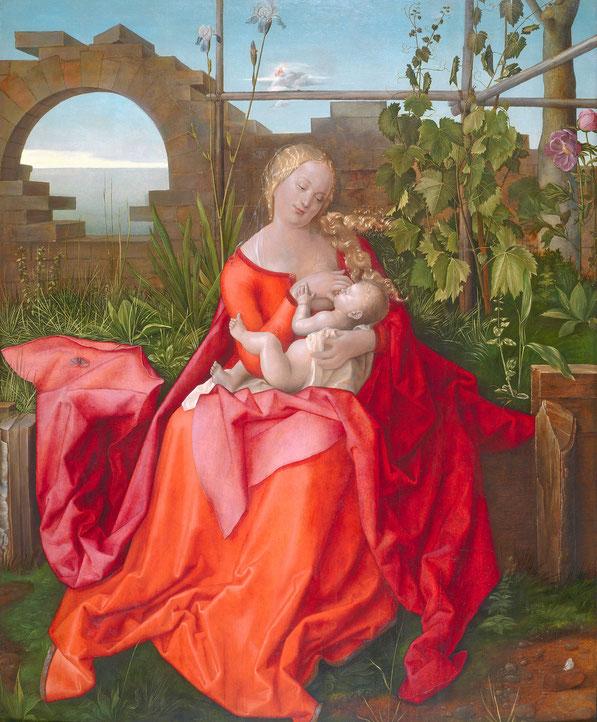 Богоматерь с младенцем ('Мадонна с Айрис)