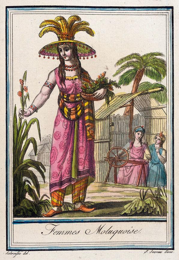 Costumes de Différents Pays, 'Femmes Moluquoise'