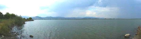 La lagune après l'orage du soir...