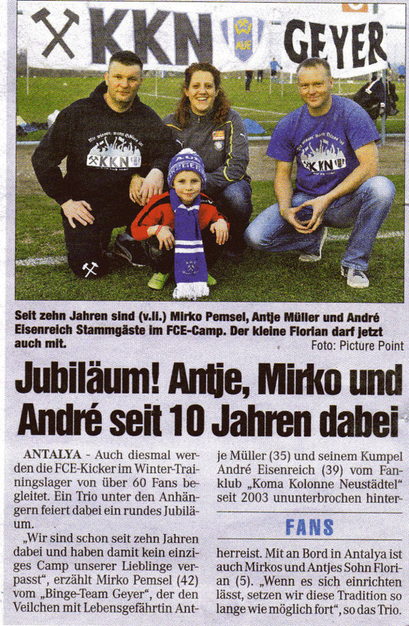 Chemnitzer Morgenpost 19.01.2013