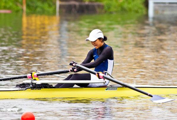 《予選レース》領木の全日本選手権出漕にあたりお世話になった、元日本ボート協会理事・一橋大学OBの辰巳様よりレースの写真をご提供いただきました