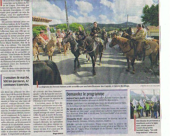 La Provence 18 mai 2013