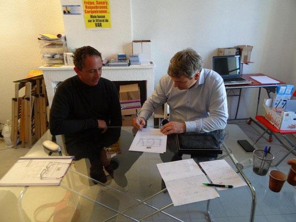 Olivier THOMAS, de Sanary a été le premier candidat a signer la chartedes