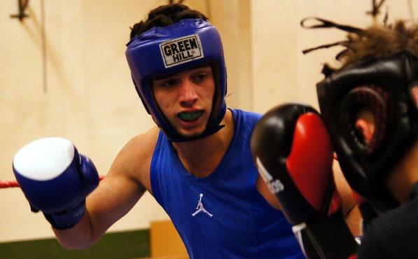 Flamur Tahiri im Abschlusssparring zur Berliner Meisterschaft