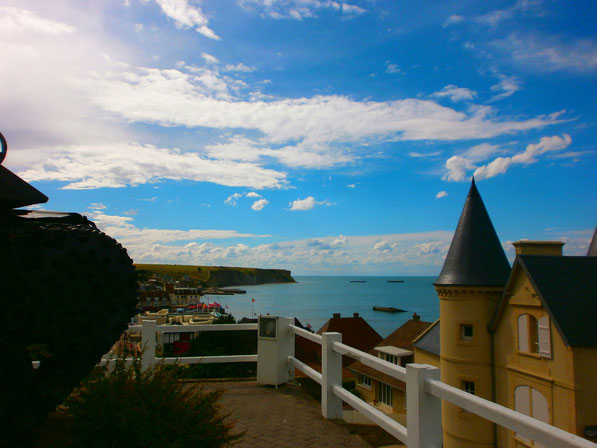 view from Arromanches