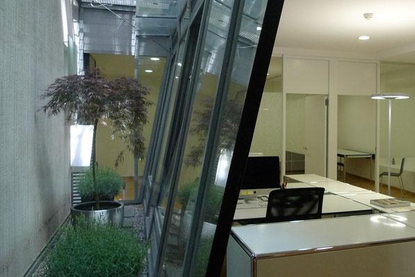 Büro Oberstadt, Schaffhausen I Büro mit Lichthof und Begrünung