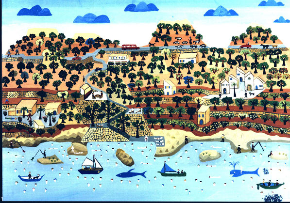 Deja, Mallorca / Öl auf Leinwand, 1990, F. Sacco