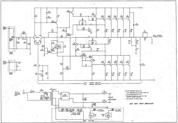 amplificateur ess m500