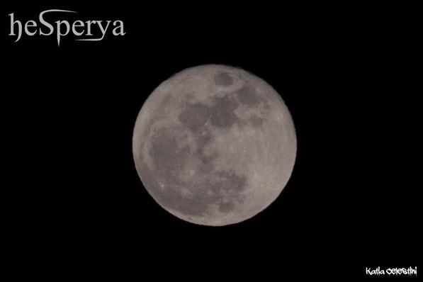 La splendida luna piena di quella sera a Villa Mina della Scala (CR) - 23.01.16