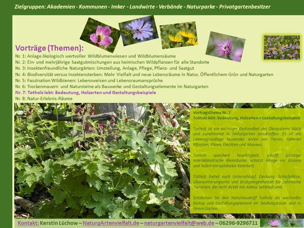 Totholz lebt! Bedeutung, Holzarten und Gestaltungsbeispoiele im Naturgarten
