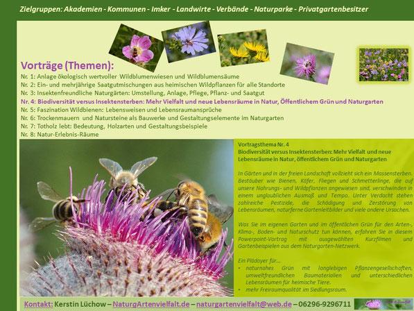 Mehr Vielfalt und neue Lebensräume in Natur, öffentlichem Grün und Naturgarten