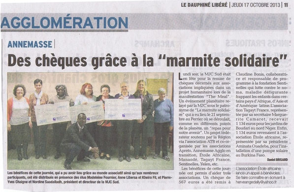 Tagayt La Marmite Solidaire - The Meal 2013