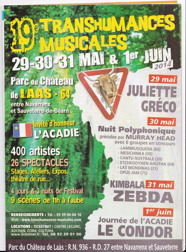 Nuit Polyphonique Prix du public 30 mai 2014