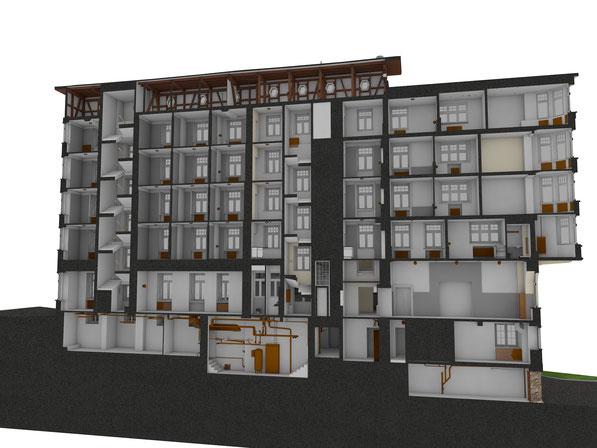 Das Inn, Davos in ArchiCAD erstellt