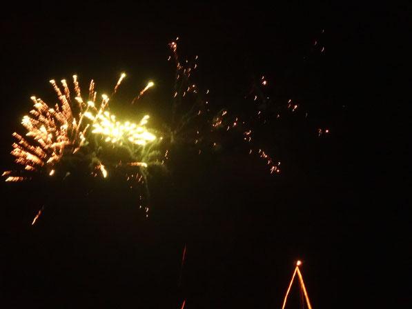 Feuerwerk über dem Hafen