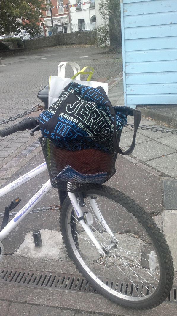 Mein Fahrradkorb am Freitag :)