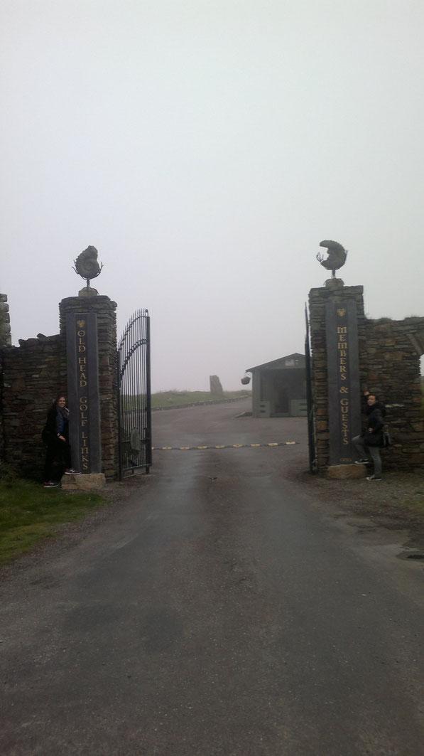 """Der Eingang des """"Günstigen"""" Golfplatzes"""
