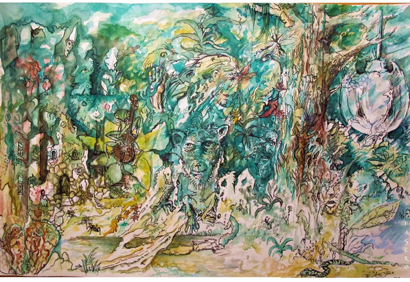 """The enchanted forest"" Aquarell"