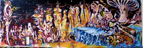 """Dreamscape"" oil on canvas 100x30cm for sale/ zu verk."