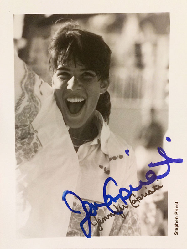 Jennifer Capriati, retired, 9 Grand Slam Titles, Olympic Gold 1992, Hall of Fame 2012, Autograph bought