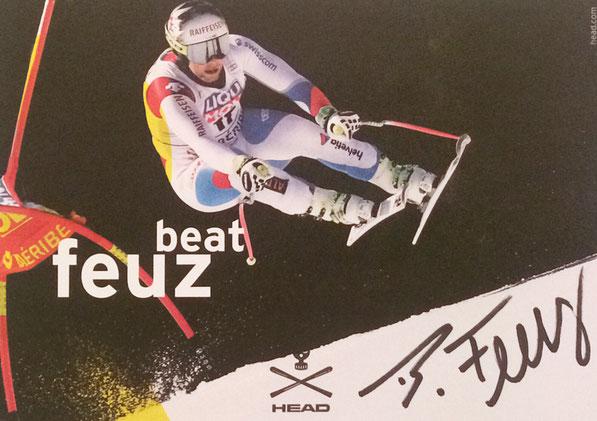 Beat Feuz Switzerland, World Champion Downhill 2017, 7 Worldcup Races won, Autograph by Mail