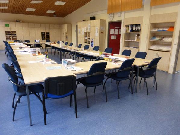 Einblick ins Eichener Lehrerzimmer