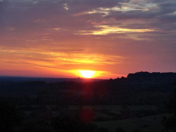L'un des sublimes coucher de soleil sur la vallée !!!!....
