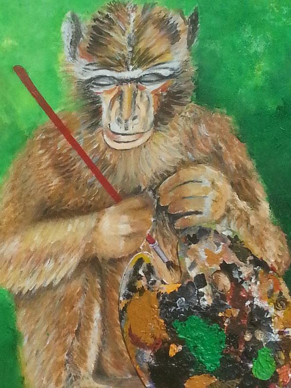 """Das neue Bild """"Der malende Affe"""""""