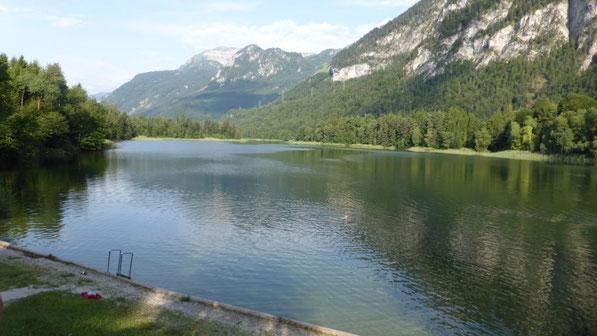 noch einmal ein Bad im Reintaler See und dann geht es nach Hause