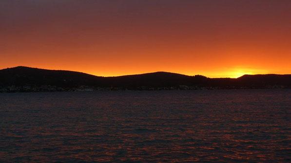 Insel Pasman im Abendlicht
