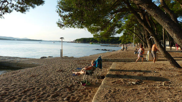 unser Strand am Camping Soline