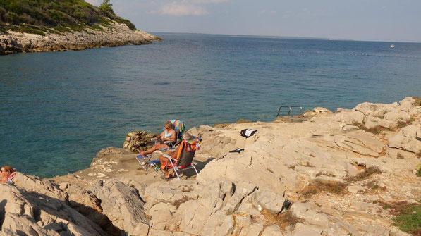 unser Badeplatz am Camping Poljana