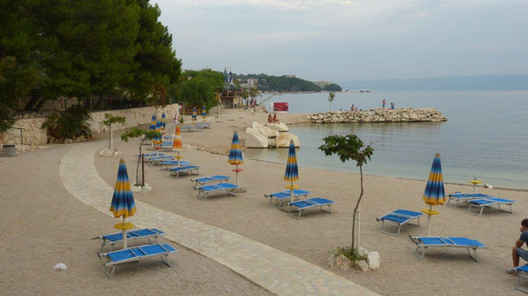 unser Badeplatz am Camping bei Split
