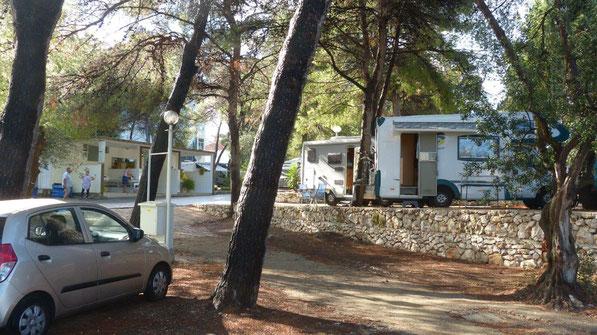 unser Stellplatz am Camping Rozac