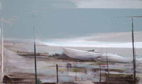 """Orilla tras la lluvia"". Pintor, Fernando Wilson 2015"