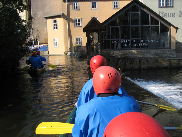 Erfurt aus der Flussperspektive