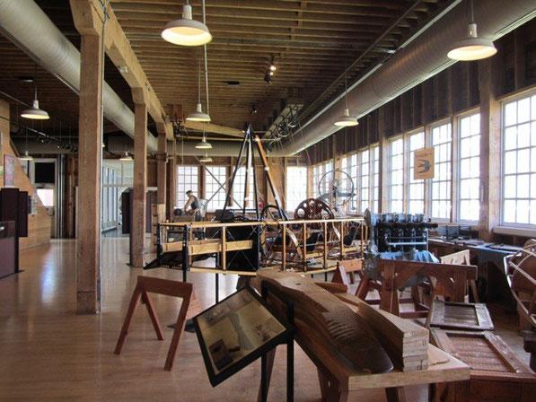 ボーイングの初期工場の展示