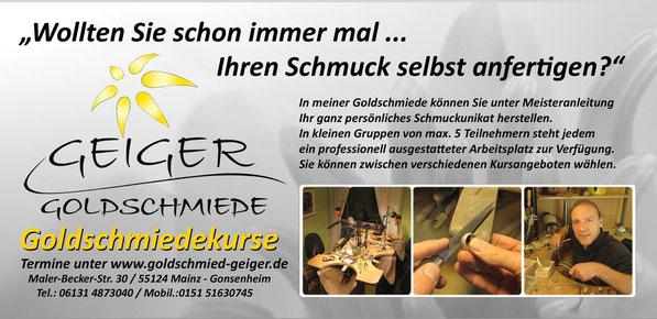 Goldschmiedekurse in Mainz