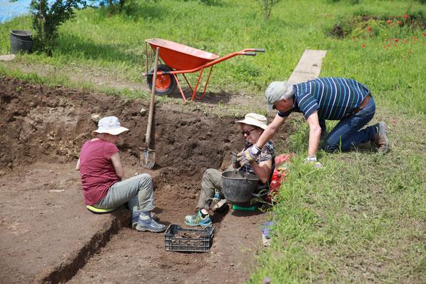 Ausgrabung Freiwillige