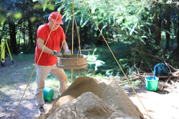 Mesolithikum Ausgrabung Freiwillige