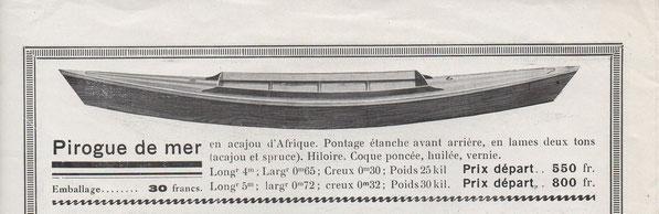 Pirogue de mer Lawrence (coll E. Alassoeur)