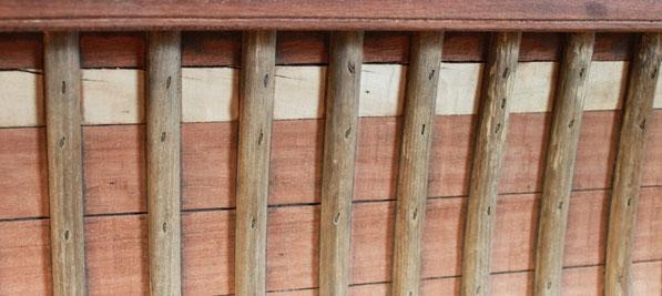bordage à mi-bois (cedar strip) - Héritage Canoë Bois