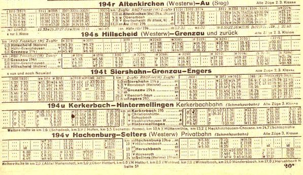 Kursbuch 1944