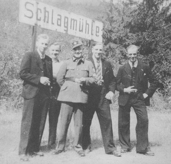 Am Haltepunkt Schlagmühle 1958