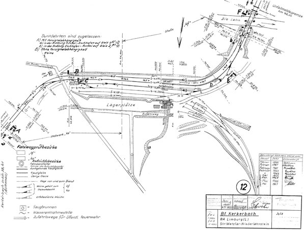 DB Bahnhof Kerkerbach Stand 1967