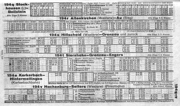 Kursbuch 1942 / 43